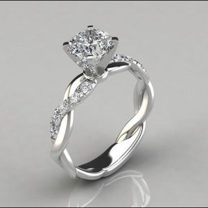 1 ct. Square Radiant Diamond Crystal Ring